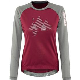 Zimtstern PureFlowz Camicia a maniche lunghe Donna, rosso/grigio
